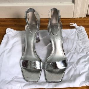 Kendall + Kylie Lexx Ankle Strap Sandals in Silver